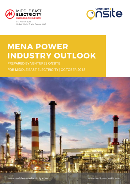 Report: MENA Power Industry Outlook – Oct 2018