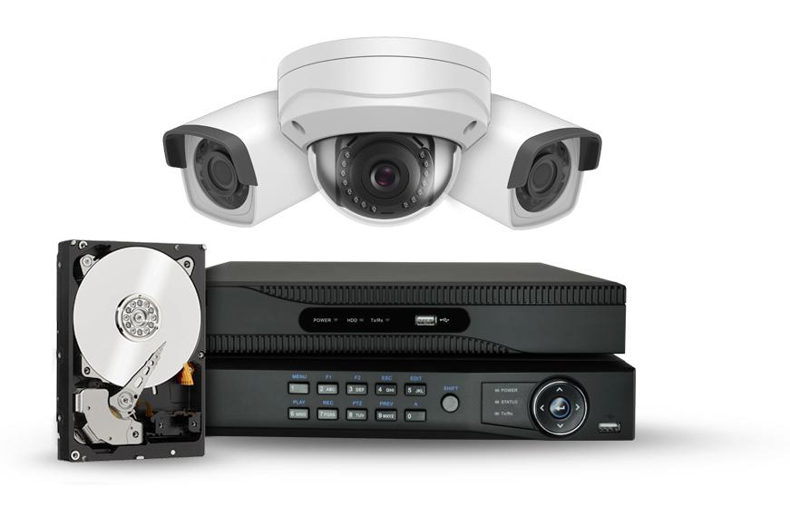 cámaras, DVR y discos duros