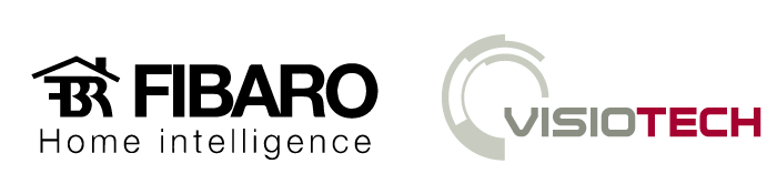 logos visiotech y fibaro