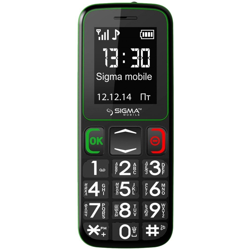 Мобильный телефон Sigma mobile Comfort 50 Mini3 (Black/Green)