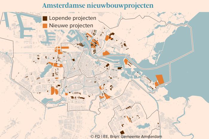 Lopende en nieuwe projecten in amsterdam