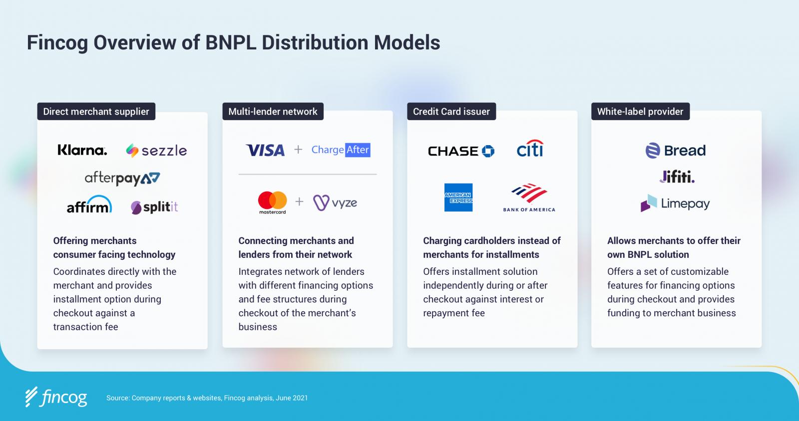 Fincog Overview of BNPL Distribution Models