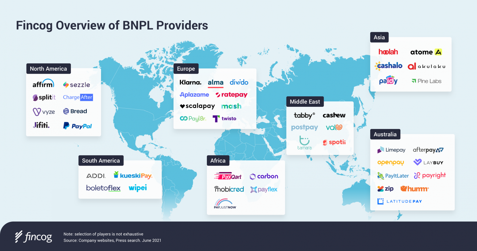 Fincog Overview of BNPL Providers