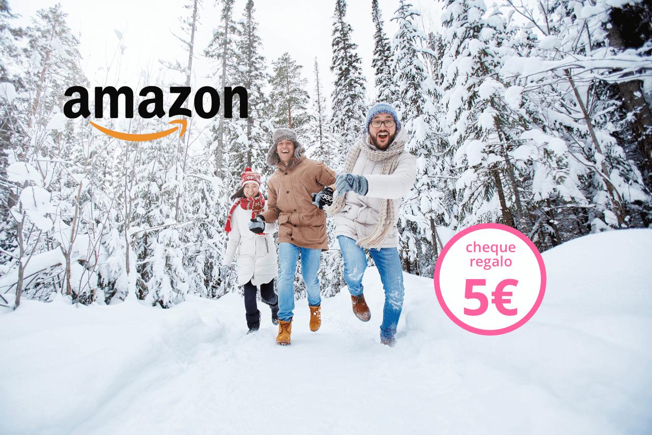 ¡Combate el frío con los cheques regalo de Amazon.es de 5€!