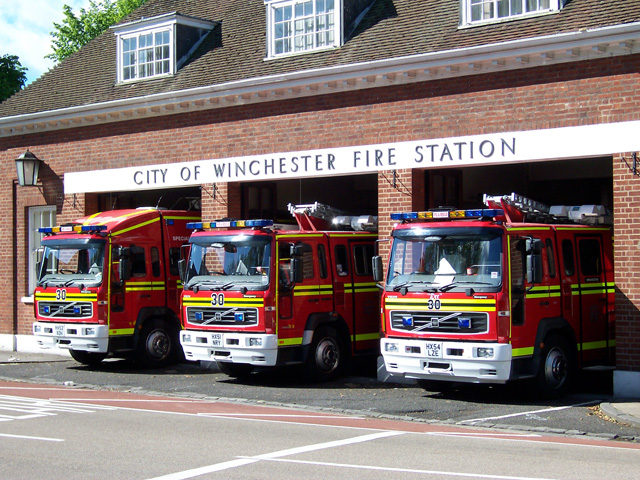Line up Winchester Fire Station