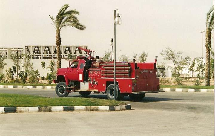 South Sinai Fire department Egypt GMC pumper