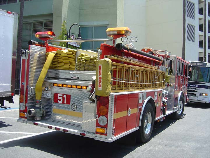 Los Angeles County NBC Universal FS pumper