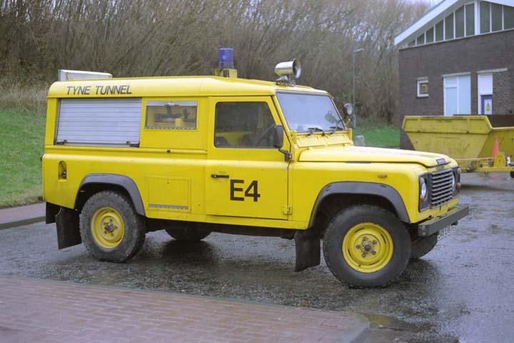 Tyne Tunnel fire appliance Land Rover E4