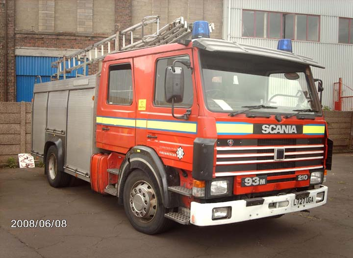 strathclyde scania Port Glasgow Fire station