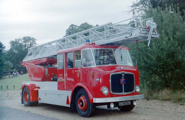 1964 AEC/Merryweather 100' Turntable Ladder.