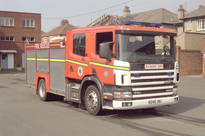 Cleveland Fire brigade Scania R246JNL