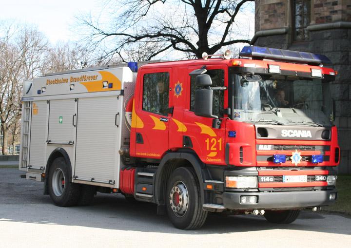 Stockholm Fire brigade Scania pump
