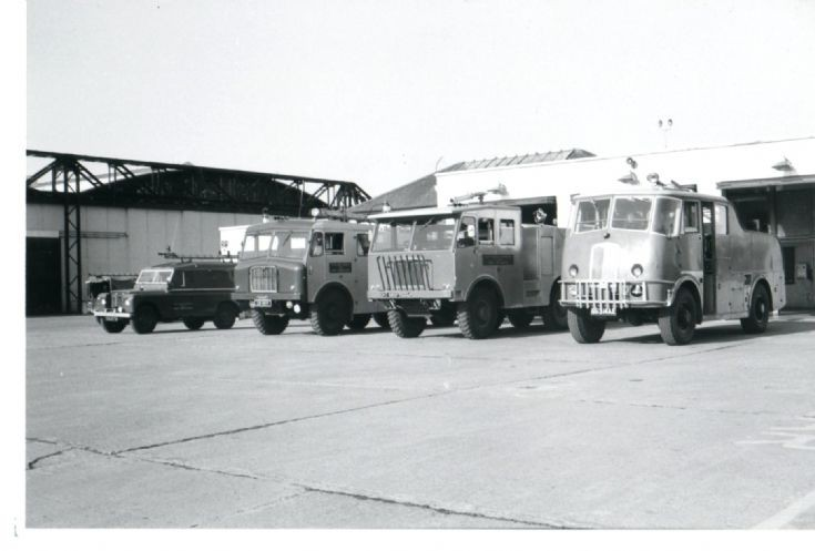 Filton airfield Fire engine line up