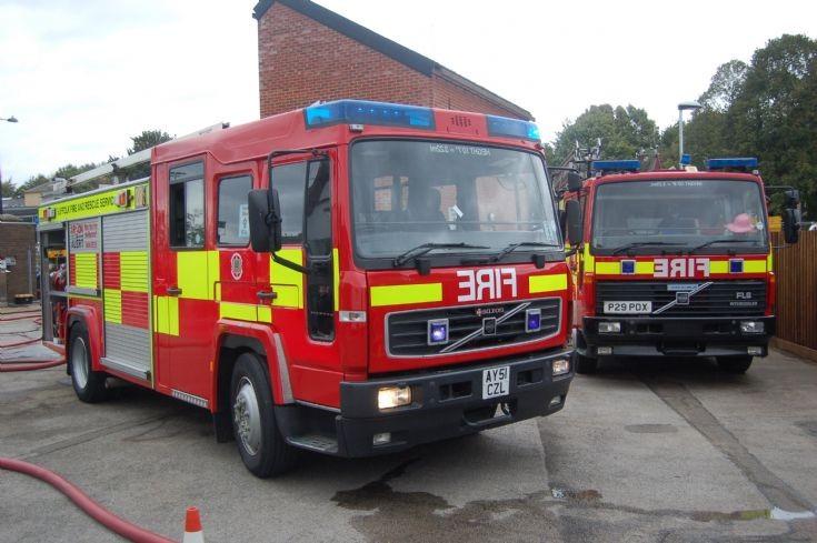 Suffolk Fire Service appliances Volvo