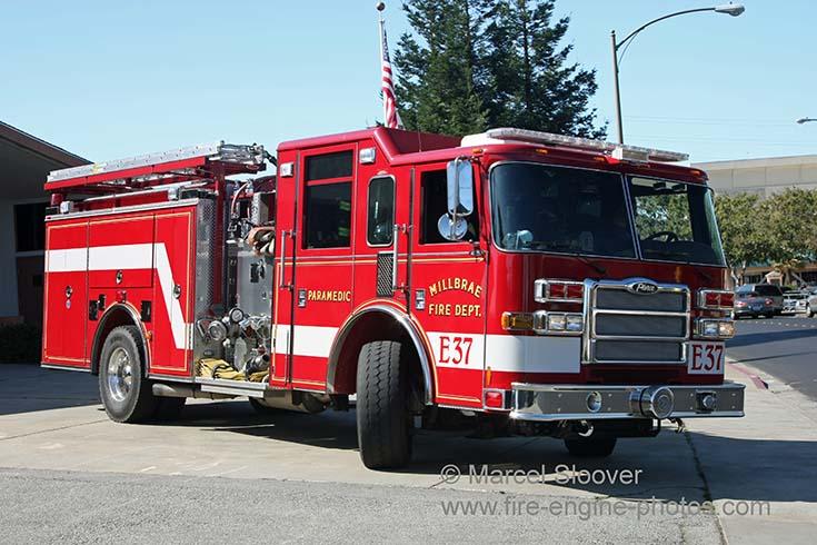 Millbrae CA Fire department Engine 37