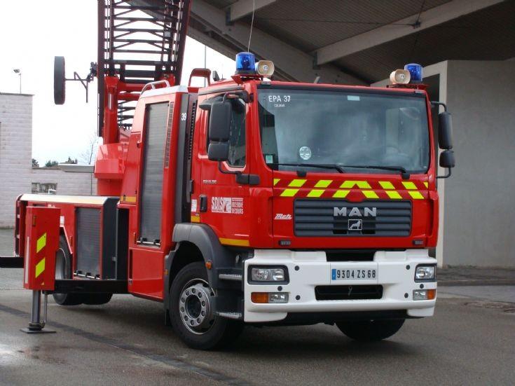 Colmar Fire station France MAN Metz ladder