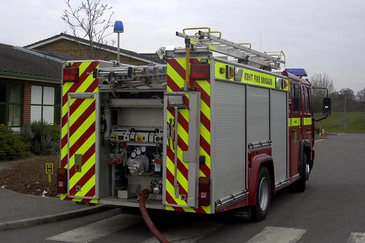 Kent Fire and Rescue Service Volvo Pump rear