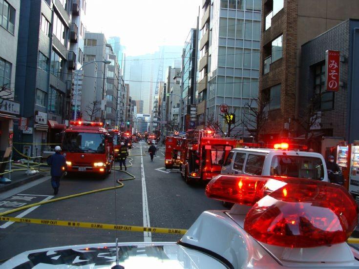 Tokyo FD - many pumpers at Alarm 5
