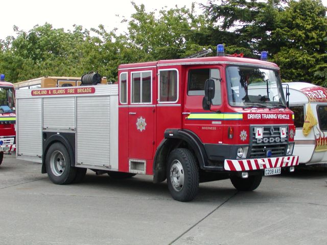 Driver Training Highlands and Islands Fire brigade