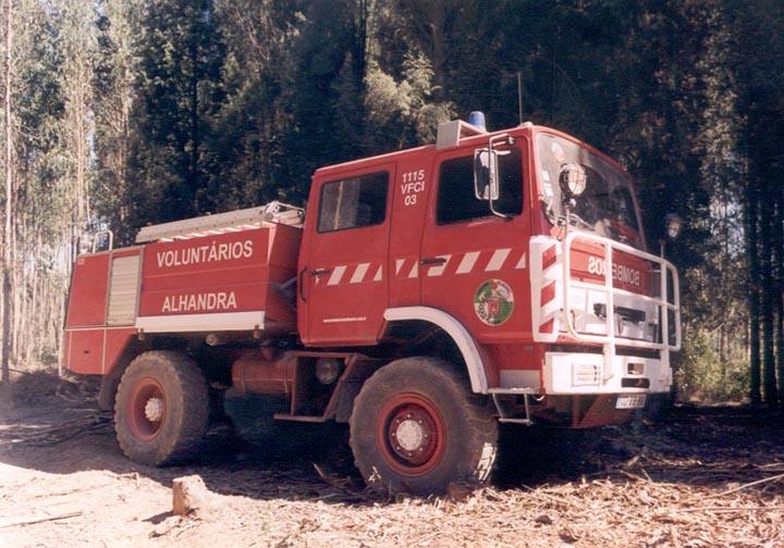Bombeiros de Alhandra Portugal Forest fire engine