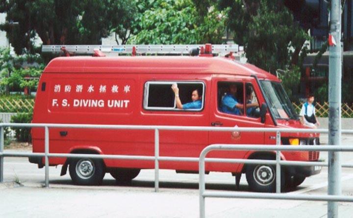 HKFSD Mercedes Diving van Hong Kong