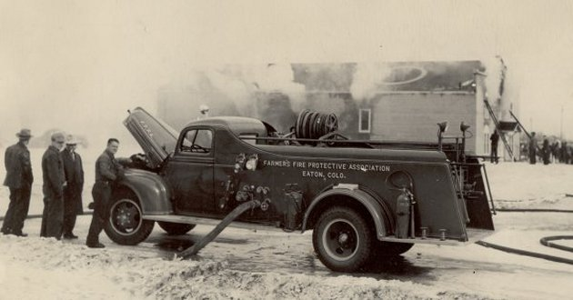 1945 Ford-Howe Engine at mutual aid in Nunn, CO