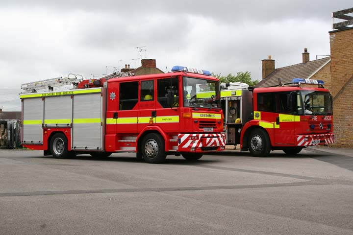 Wiltshire Fire Service Swindon Dennis and Mercedes