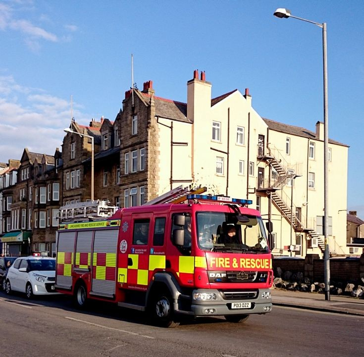 Morecame/Lancashire fire and rescue appliance