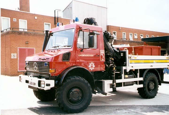 Fire Engines Photos - East Sussex Mercedes Benz Unimog