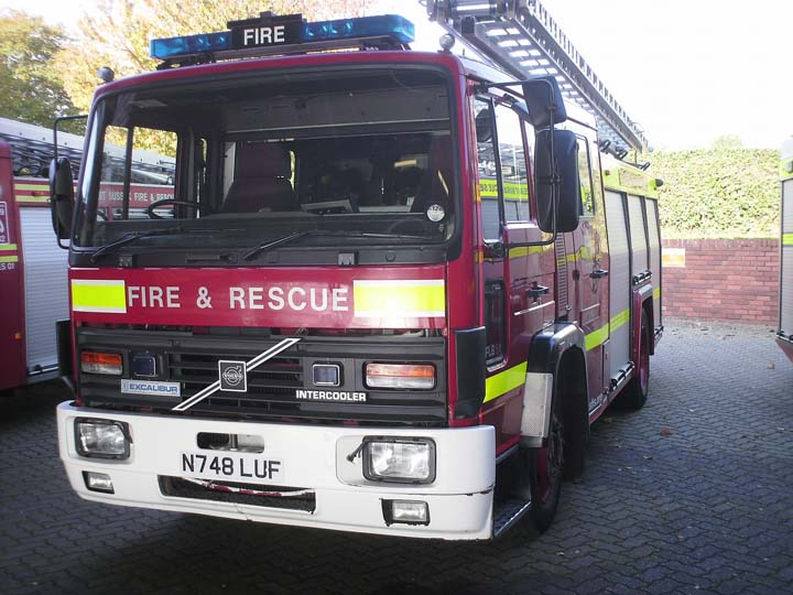 East Sussex Fire &  Rescue Service Volvo N748LUF