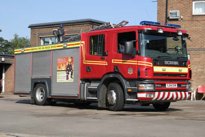 Scunthorpe Fire station Scania appliance