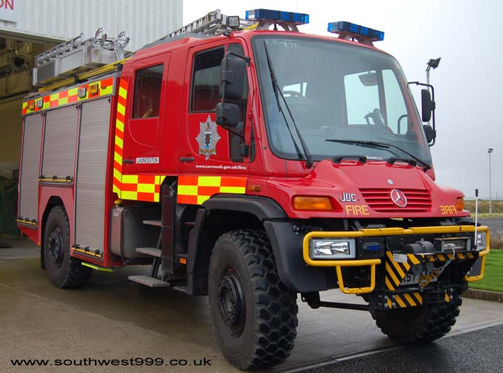 Cornwall County Fire Brigade Launceston Unimog