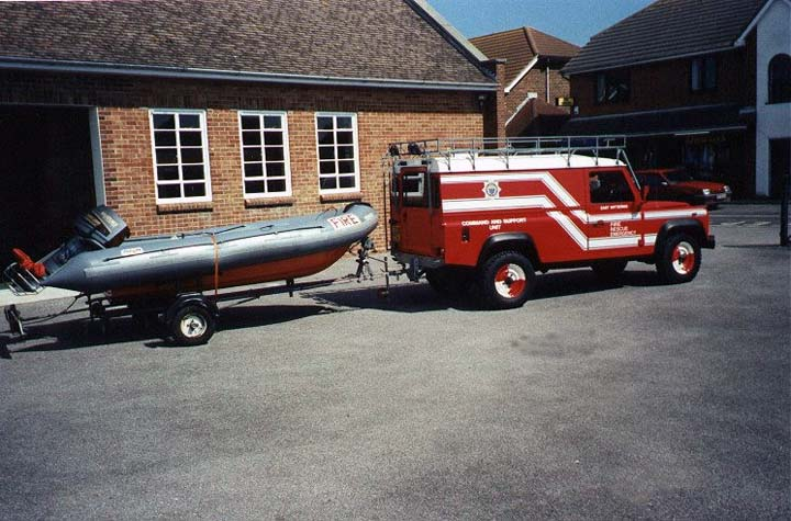 West Sussex FRS Landrover East Wittering