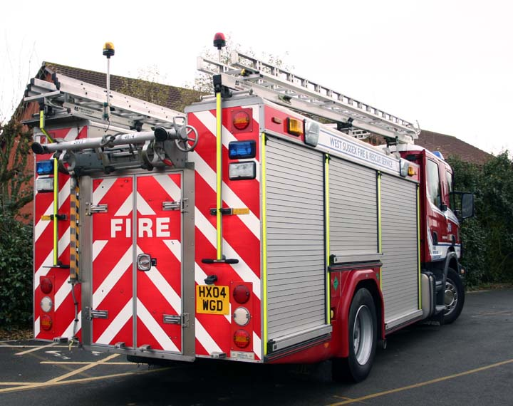 West Sussex FRS Scania WrL rear