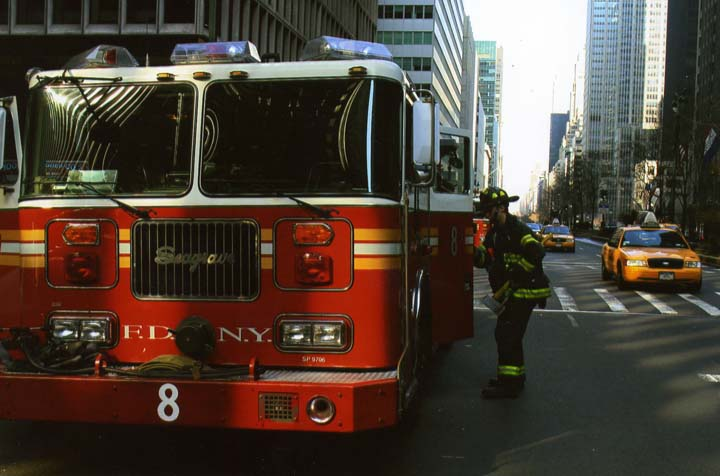 FDNY Engine 8 on Park Avenue Manhattan
