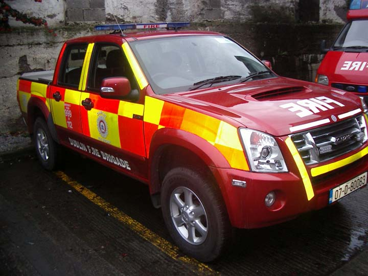 Dublin Fire brigade Isuzu Tunnel Escort Vehicle