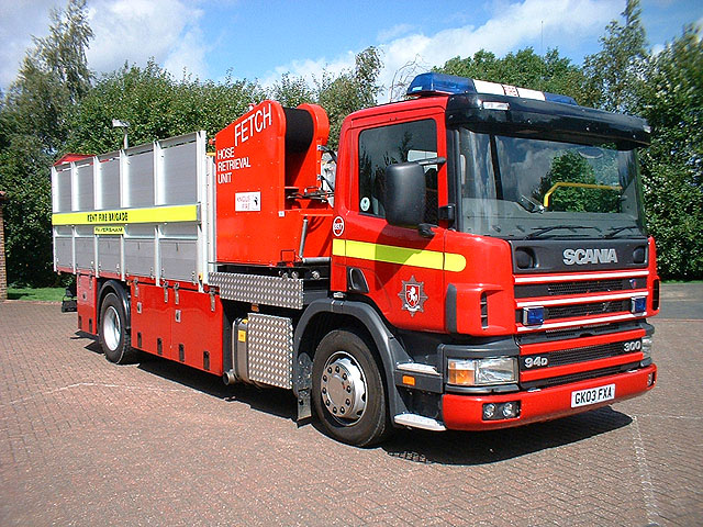 Scania P94D Kent fire brigade