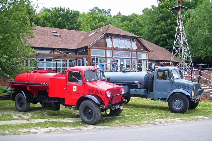 Bedfords at Fire show Amberley Working Museum