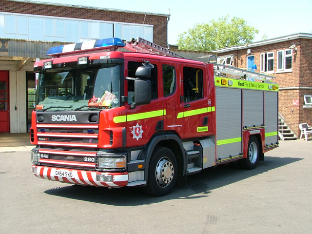 Scania Kent Fire Rescue service