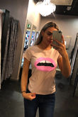 Sequin Mouth T-shirt