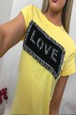 Tweed Detail Love T-shirt