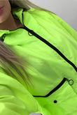 Neon Zip Detail Festival Jacket