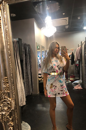 Paint Splash T-shirt Dress