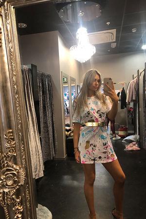 Paint Splash T-shirt Dress