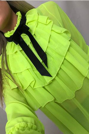 Ribbon Tie Multi Frill Shirt