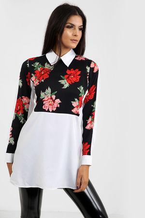 Floral Insert Shirt