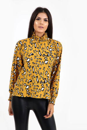 Leopard Print Box Blouse