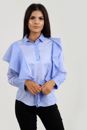 Bow Tie Front Layered Shirt