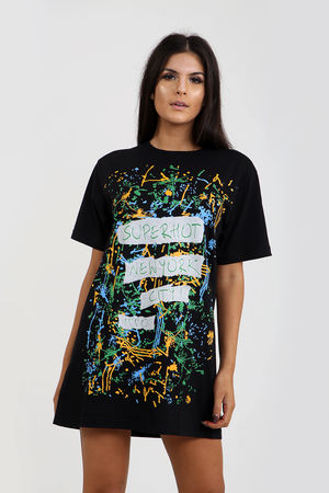 Super-Hot Graffiti T-shirt Dress