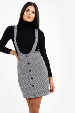 Button Through Pinafore Dress